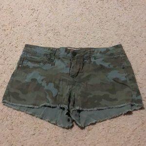 Camo Denim shorts